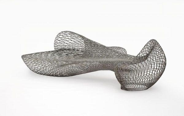 Joris Laarman, produced by Joris Laarman Lab, Dragon Bench, designed 2014, made 2015, stainless steel, the Museum of Fine Arts, Houston