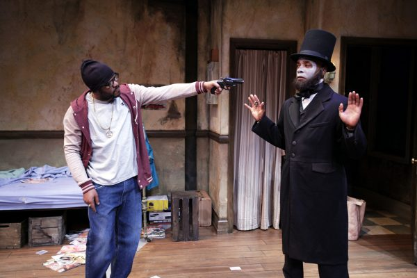 Larry Bates and Curtis McClarin in Topdog/Underdog by Suzan-Lori