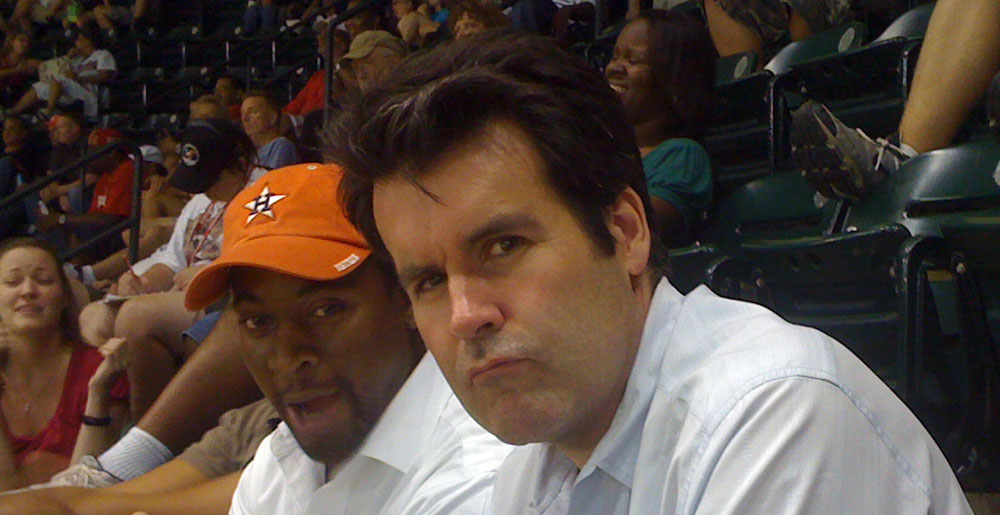 Franklin and Toby at Astros game