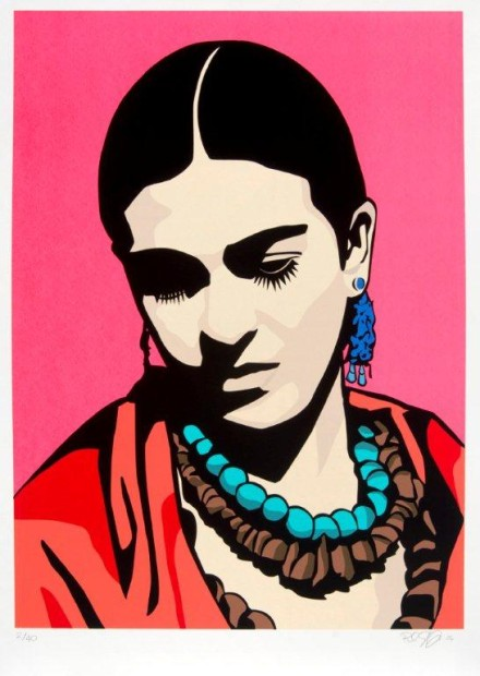 Raul Caracoza, Young Frida (Pink), 2006. Screenprint. Collection of the McNay Art Museum, Gift of Harriett and Ricardo Romo.