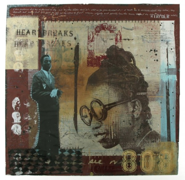 """Robert Hodge, """"You Must Be My Soul Sista"""" Mixed Media on Paper 60x60"""