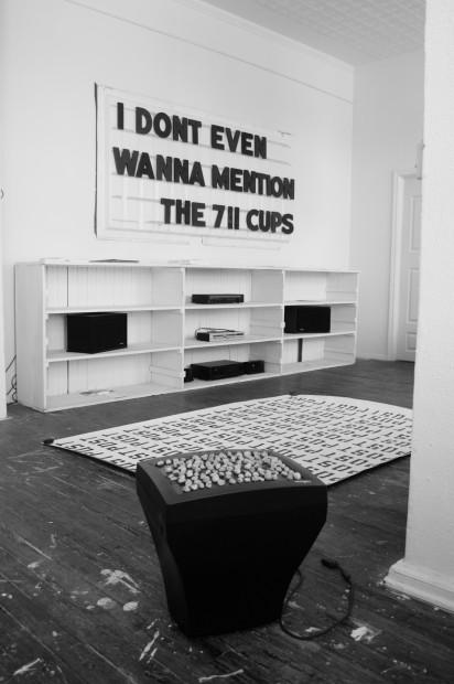 "Installation shot from ""Applefaces"" exhibition at Studio DFTU. Photo credit: Bronwen Roberts"