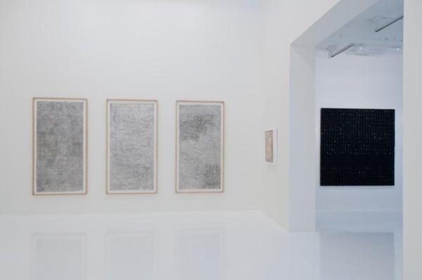 Installation view, Gabriel Orozco and Leonardo Drew