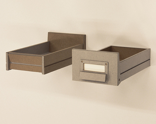 """Carl Hammoud, """"Correct,"""" 2012, cardboard and paper, 12-1/2 x 8-3/4 x 3 inches"""