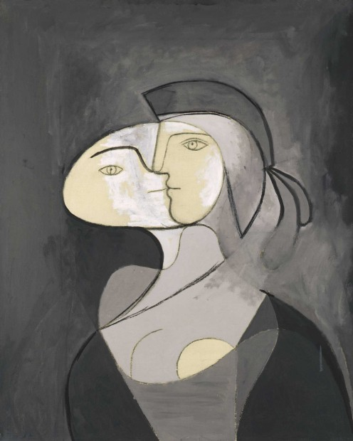 Pablo Picasso, Marie-Thérèse, Face and Profile, Paris, 1931, oil and charcoal on canvas, PrivateCollection. © 2013 Estate of Pablo Picasso / Artists Rights Society (ARS), New York