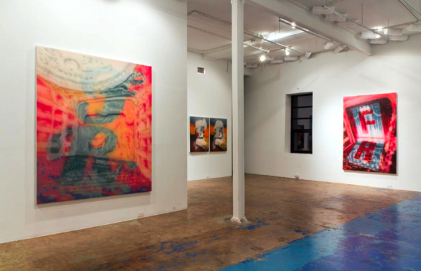 Painting of All Excuses, Installation view, CentralTrak Residency Program, Dallas