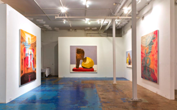 Painting of All Excuses, Installation view, CentralTrak Residency, Dallas