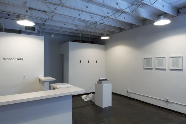 Missed Calls by Kris Pierce, installation view, The Reading Room, Dallas.