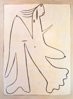 Pablo Picasso Standing woman, 1927, Femme en pied Oil on canvas, 133x105 cm Marina Picasso  Collection (Inv. 12471) Courtesy Jan Krugier Gallery, New York