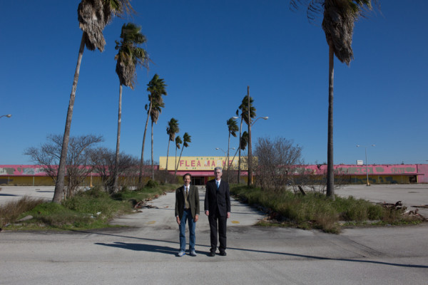 Art Guys at an abandoned flea market at I-45