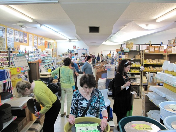 Crowd at the Ceramic Store