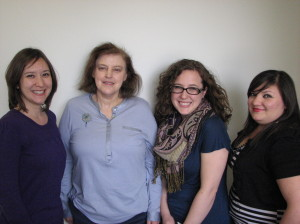 New Education Department Team at EPMA: Laura Zamarripa, Elisabeth Sommer, Brittny Bevel, Erica Saldaña