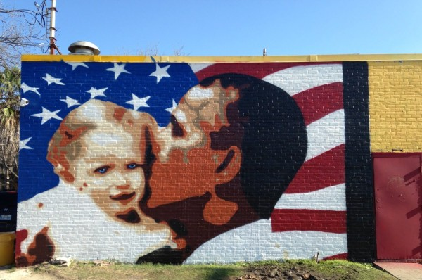 """Mural #3 """"Love Conquers All"""" painted February 2013"""