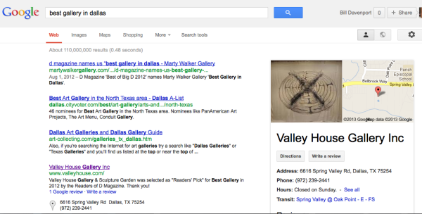 Top search result, also featured ad, hmm . . .