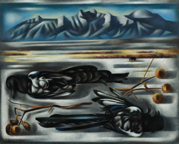 Loren Mozley, Winter Fields, 1948, Oil on canvas, Overall: 24 x 30 in., Collection of Susan and Claude Albritton III