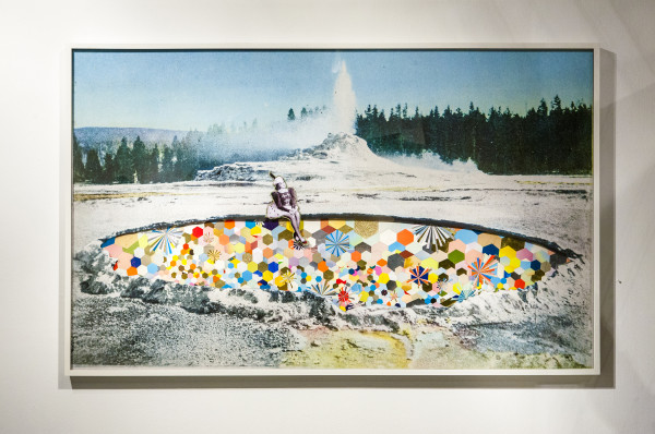 Color Me, 2012 - 2013, Found image digitally printed with found paper, 49 X 79 inches