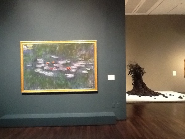 Installation view, Claude Monet Nympheas [Water Lilies] and Petah Coyne Untitled #1103 (Daphne)