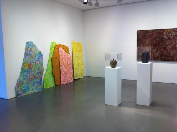 Group show (Lynda Benglis, Sean Bluechel, Jean Dubuffet, Mika Rottenberg, and Axel Salto) at Andrea Rosen Gallery