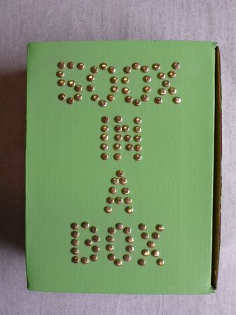 """""""500X in a Box,"""" box of a single work by every member of 500X in 1989. Charles Dee Mitchell Collection."""