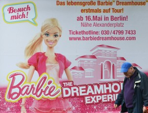 Vandalism of Barbie's Berlin advertising. Courtesy Spiegel Online.