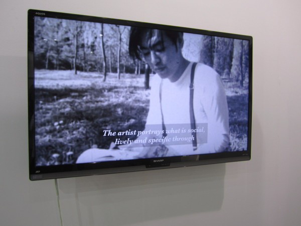 """Li Ran, """"Another 'The Other Story,'"""" 2013, video installation at Aike-Dellarco, Shanghai"""