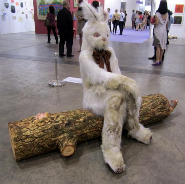 """Marnie Weber, """"Log Lady & Dirty Bunny,"""" 2009 at Simon Lee Gallery, London & Hong Kong"""