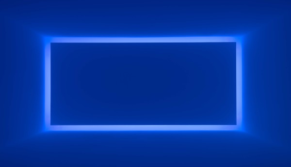 Rondo (Blue), from the series Shallow Spaces, 1969, neon light, the Museum of Fine Arts, Houston, gift of the estate of Isabel B. Wilson in memory of Peter C. Marzio. © James Turrell
