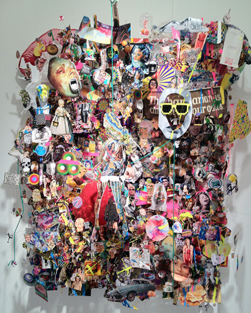 Cameron Gray, The Barbarians Are Almost At Your Gates, mixed media (Mike Weiss Gallery, NYC)