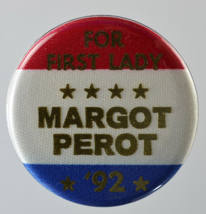 Campaign button for Ross Perot's 1992 presidential bid