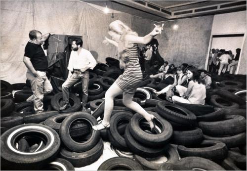 1969 installation of Allan Kaprow's Yard