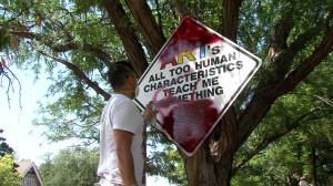 Artist Paints Over Amarillo S Mock Road Signs Glasstire