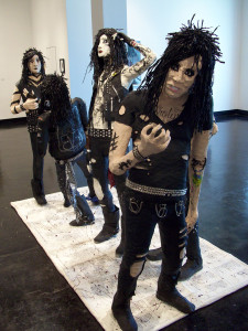 Avril Falgout, Black Veil Brides (2013), paper maché and mixed media
