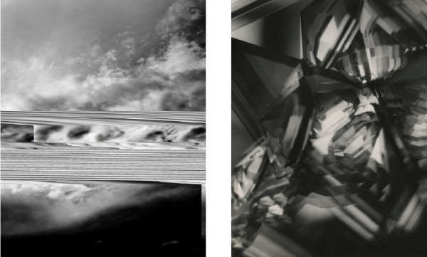 Barry Stone, Sky 3099, 2012 and Alvin Langdon Coburn, Vortograph, 1917.