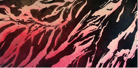 Matthew John winters, Pink Mountaintops, 5x10'