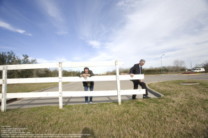 The Art Guys and a fence (but from a project earlier this year)