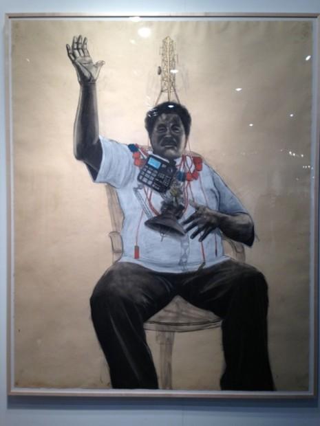 "Robert Pruitt's ""Oba"" at Hooks-Epstein's booth"