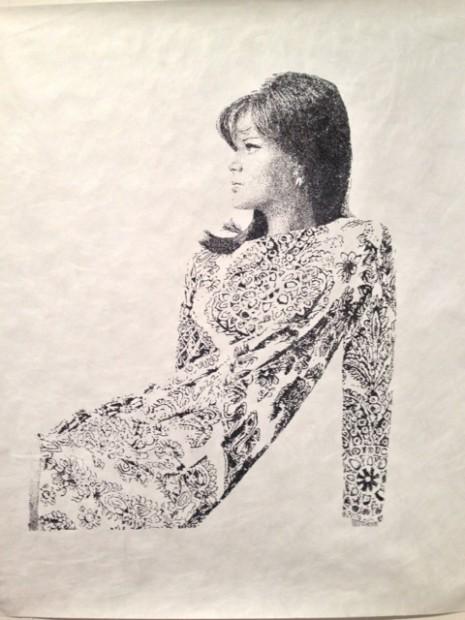Laura Lark's work in the Devin Borden Booth