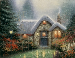The Woodsman's Thatch, by Thomas Kinkade