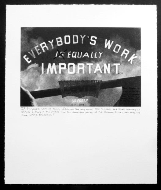 Jenny Holzer's Truism, 2011, from the portfolio Campaign for Braddock Hospital (Save Our Community Hospital), 2011