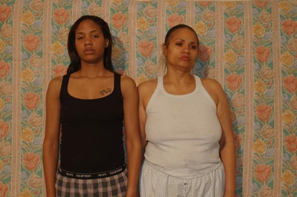 Still from Momme Portrait Series (Wrestle), 2009