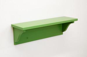 news sincerity green shelf