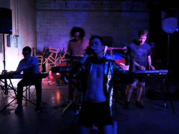 George Quarz performing at Ware:Wolf:House. Image courtesy Thrwd Magazine.