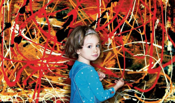 """To Hell With These Demanding """"Artists""""—Lil' Marla Here Will Paint You a Pollock for a Fruit Roll-up and a Box of Juicy Juice."""