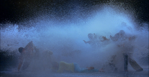 Bill Viola, The Raft, 2004, Color High-Definition video projection, 396.2 x 223 cm, 5.1ch surround sound, 10:33 minutes. Photo: Kira Perov.