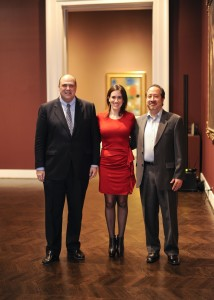 Meadows Museum director Mark A. Roglán, curator Nicole Atzbach and last year's winning artist Stephen Lapthisophon. Photo by Tamytha Cameron
