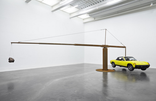 'Porsche with Meteorite,' 2013. (Photo by Benoit Pailley/New Museum)