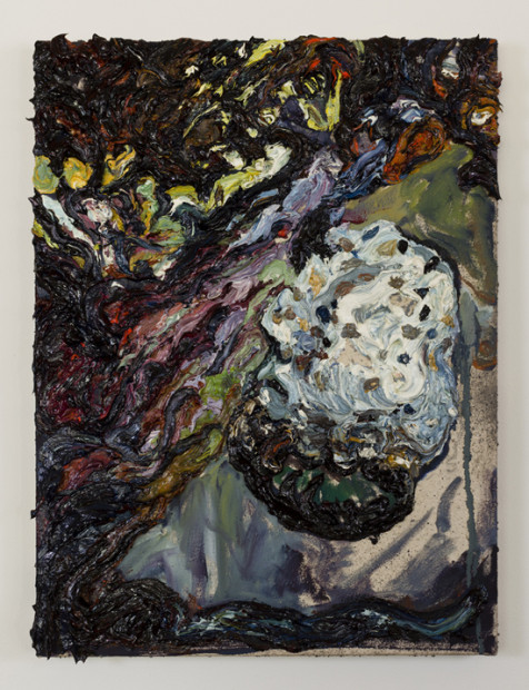 "Lunar Form (2013), oil on canvas, 24 x 18"". Image courtesy the artist and Tiny Park"