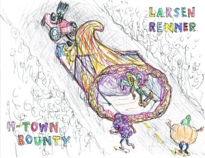 """Sketch for """"H-Town Bounty"""" Float"""
