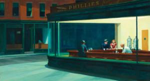 Edward Hopper. Nighthawks, 1942. Friends of American Art Collection.