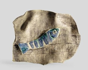 Pablo Picasso, Fish on a Sheet of Newspaper (Poisson sur feuille de journal), 1957.  Courtesy Nasher Sculpture Center